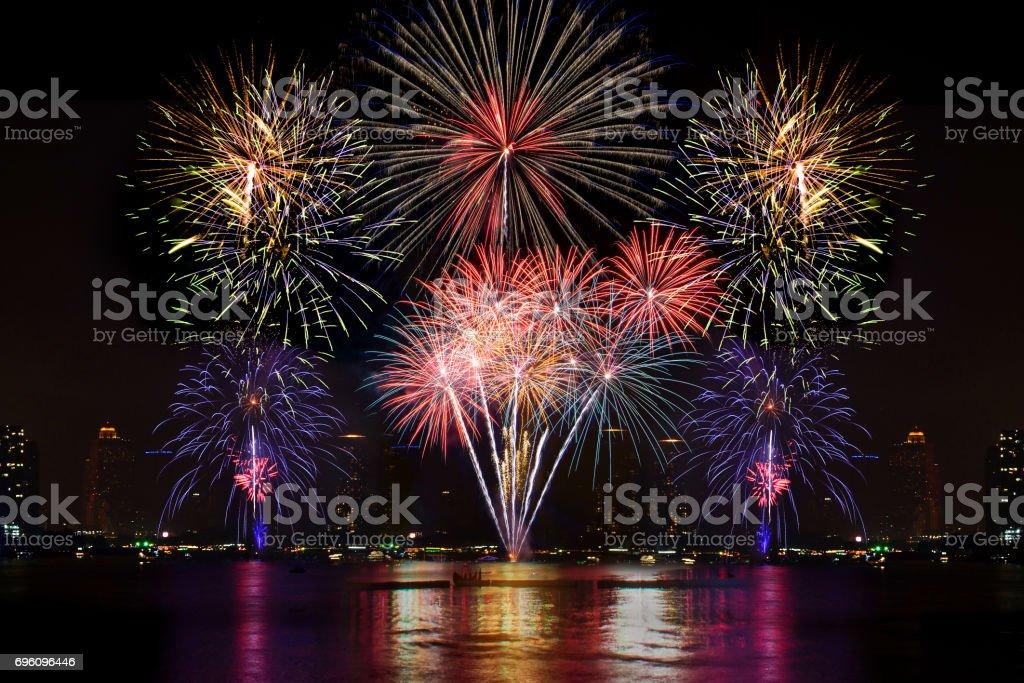 Colorful Firework display stock photo