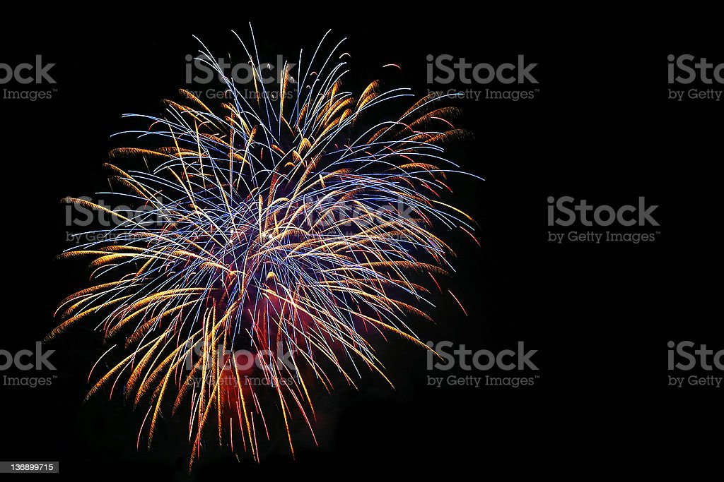 colorful fireworks explosion royalty-free stock photo