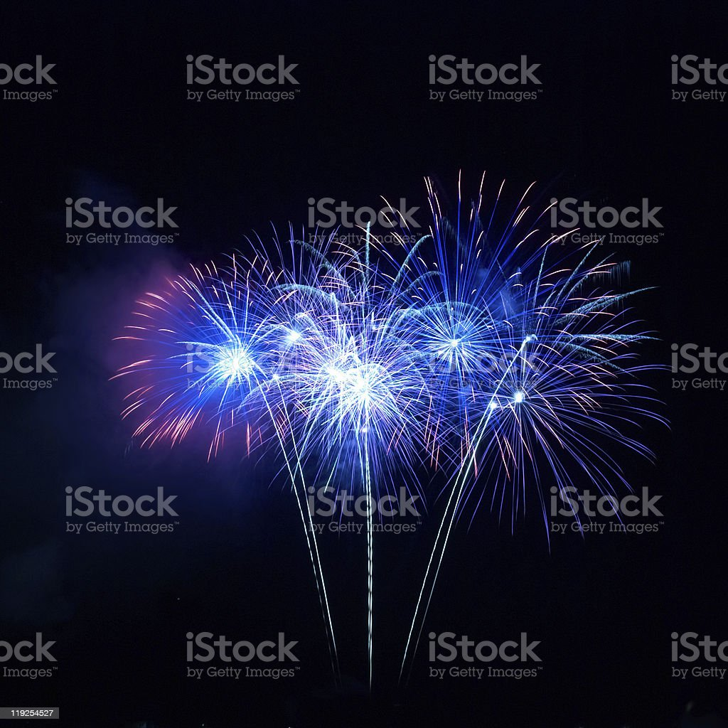 Colorful fireworks stock photo