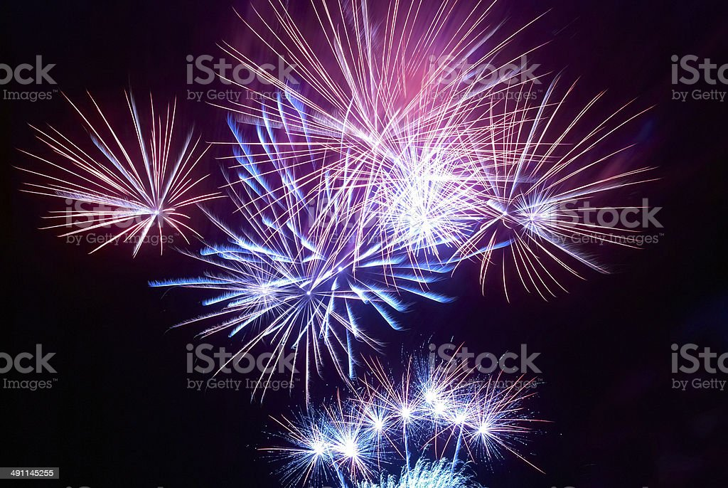 Colorful fireworks royalty-free stock photo