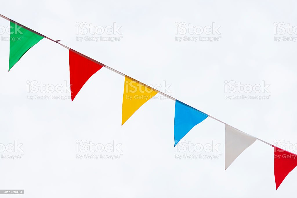 Colorful Flags - Yay stock photo