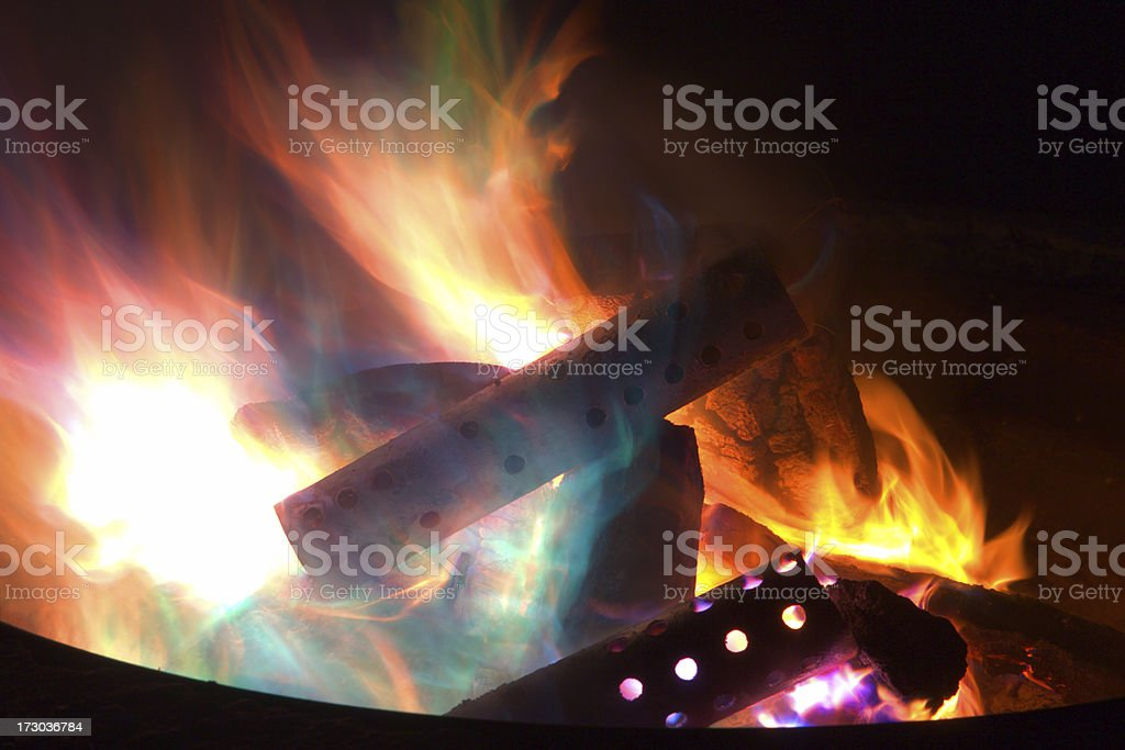 Colorful Flames royalty-free stock photo