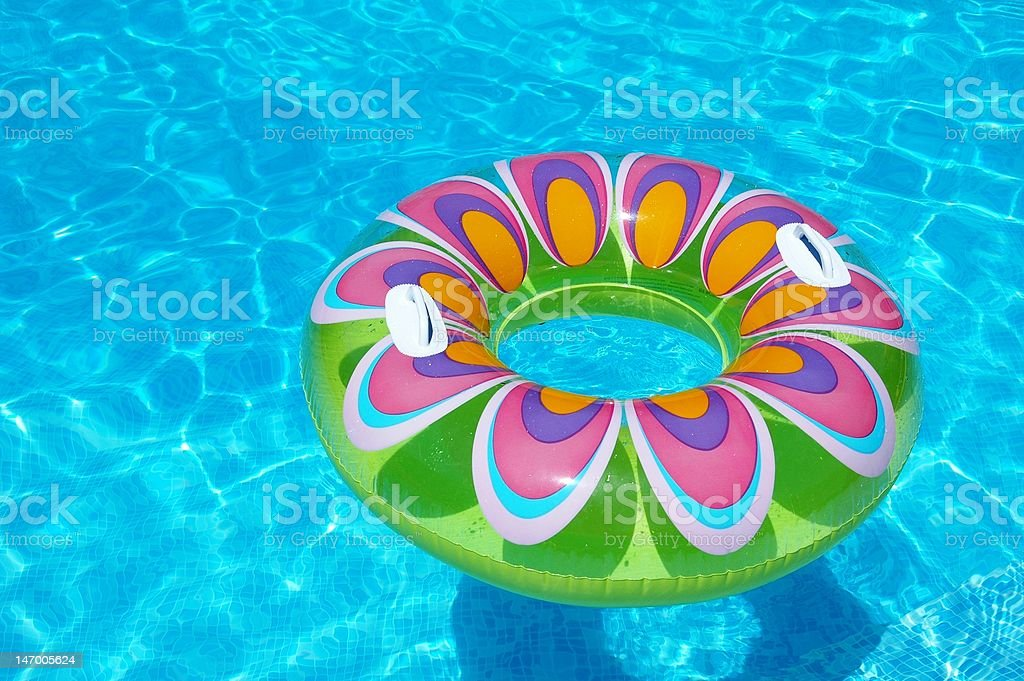 Colorful floating ring stock photo