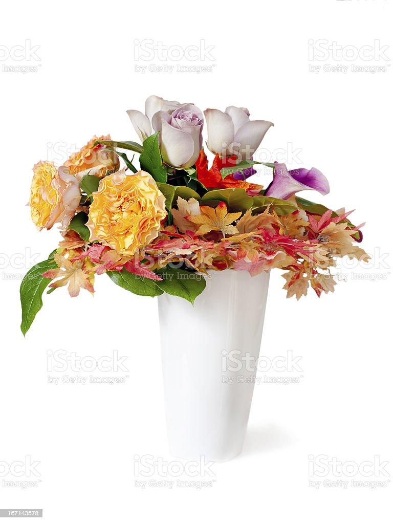 Colorful flower bouquet arrangement centerpiece in vase. royalty-free stock photo