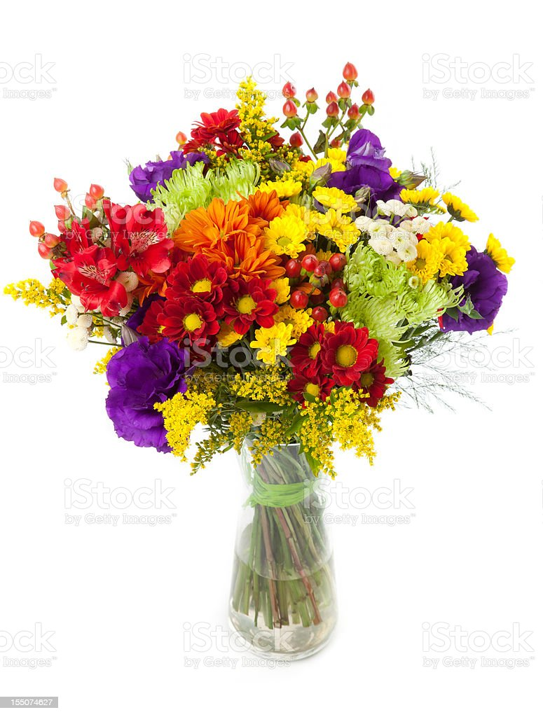 Colorful flower bunch royalty-free stock photo