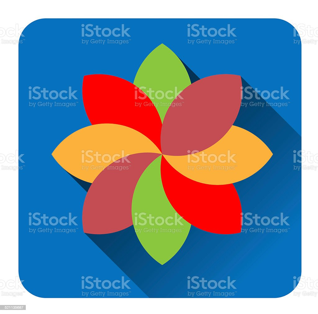 Colorful  flower flat icon stock photo