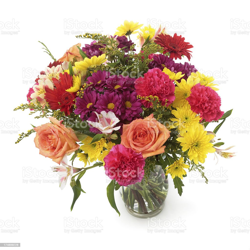 Colorful Flowers Bunch In Vase stock photo 174859228 | iStock