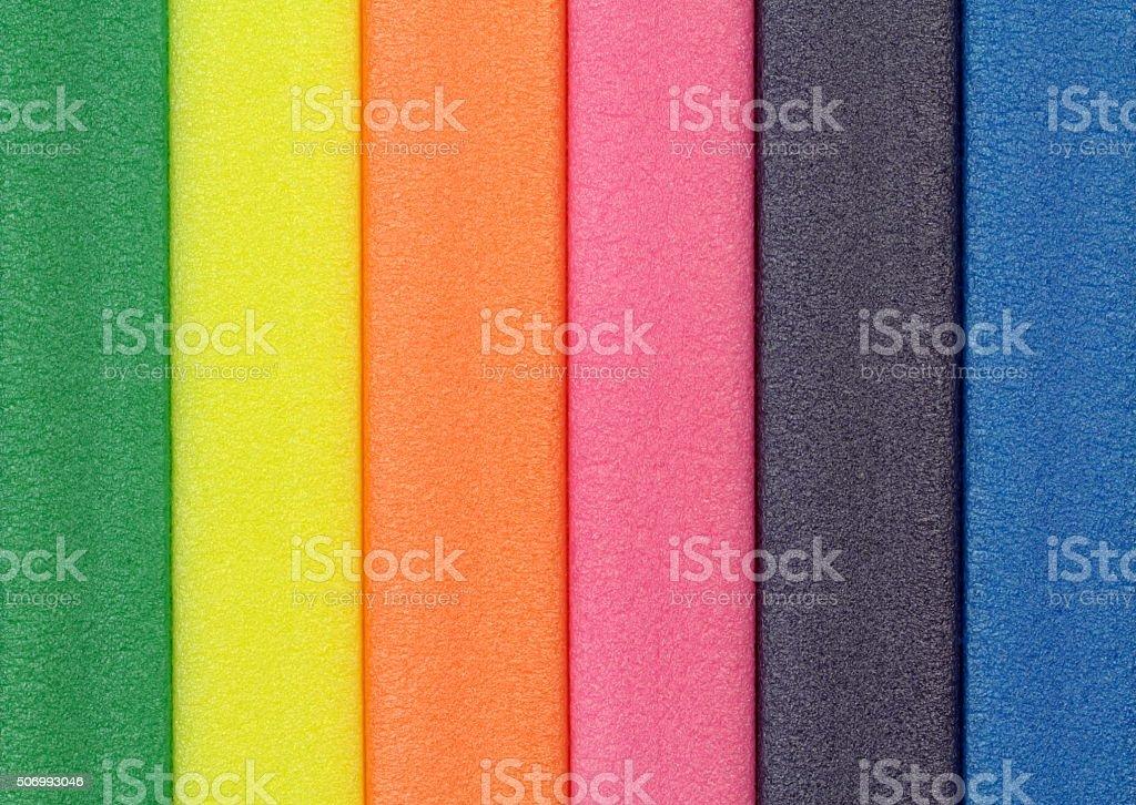 Colorful foam rubber stock photo