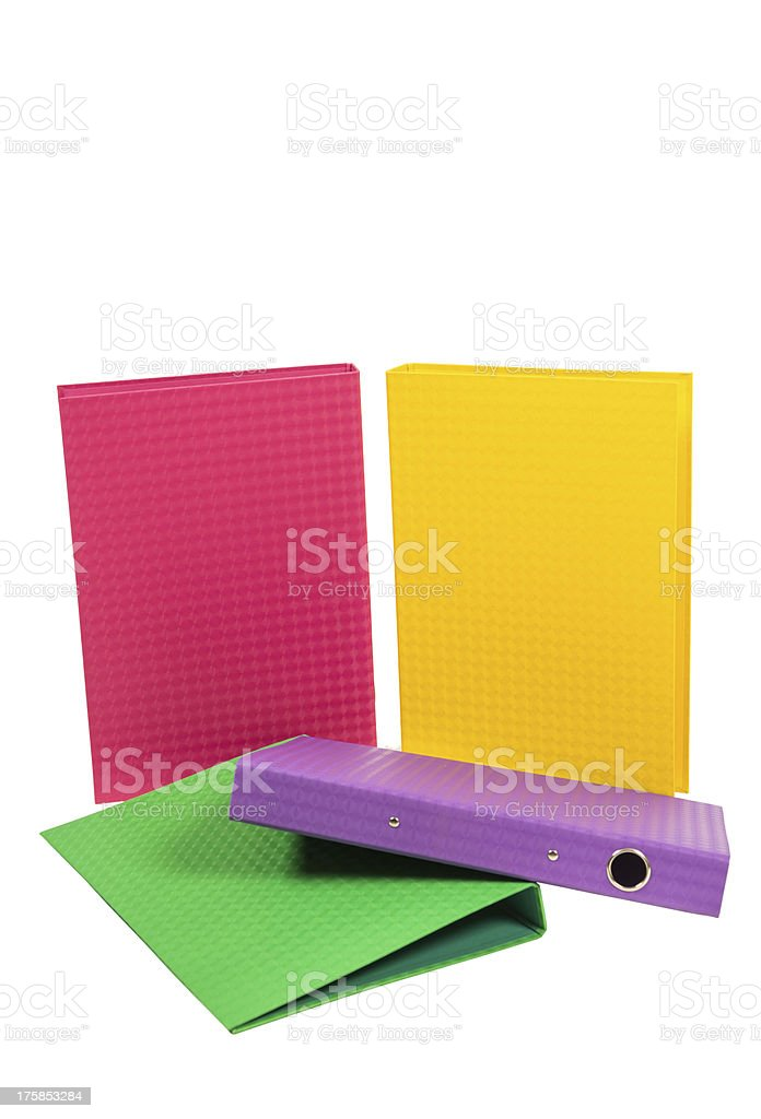 Colorful Folders Document royalty-free stock photo