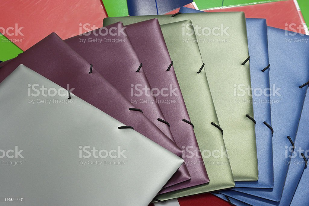 Colorful folders stock photo