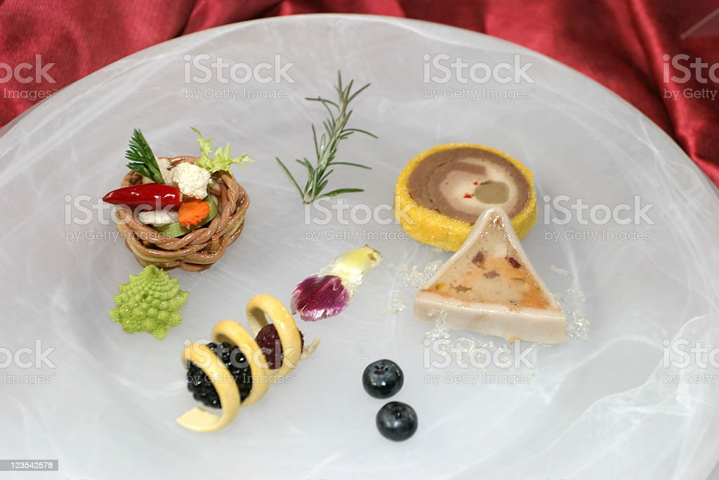 Colorful food bites royalty-free stock photo