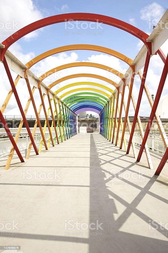 colorful footbridge stock photo