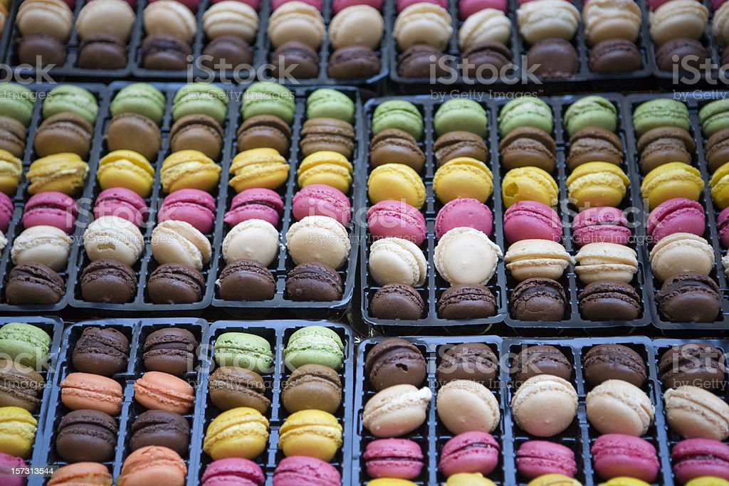 Colorful French Macarons royalty-free stock photo