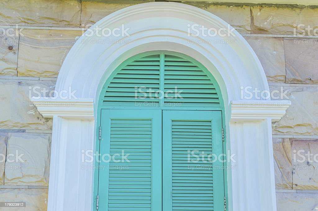 Colorful French style windows. royalty-free stock photo