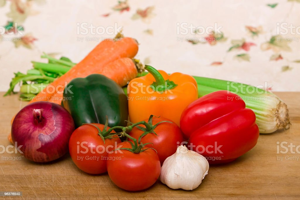 Colorful fresh vegetables royalty-free stock photo