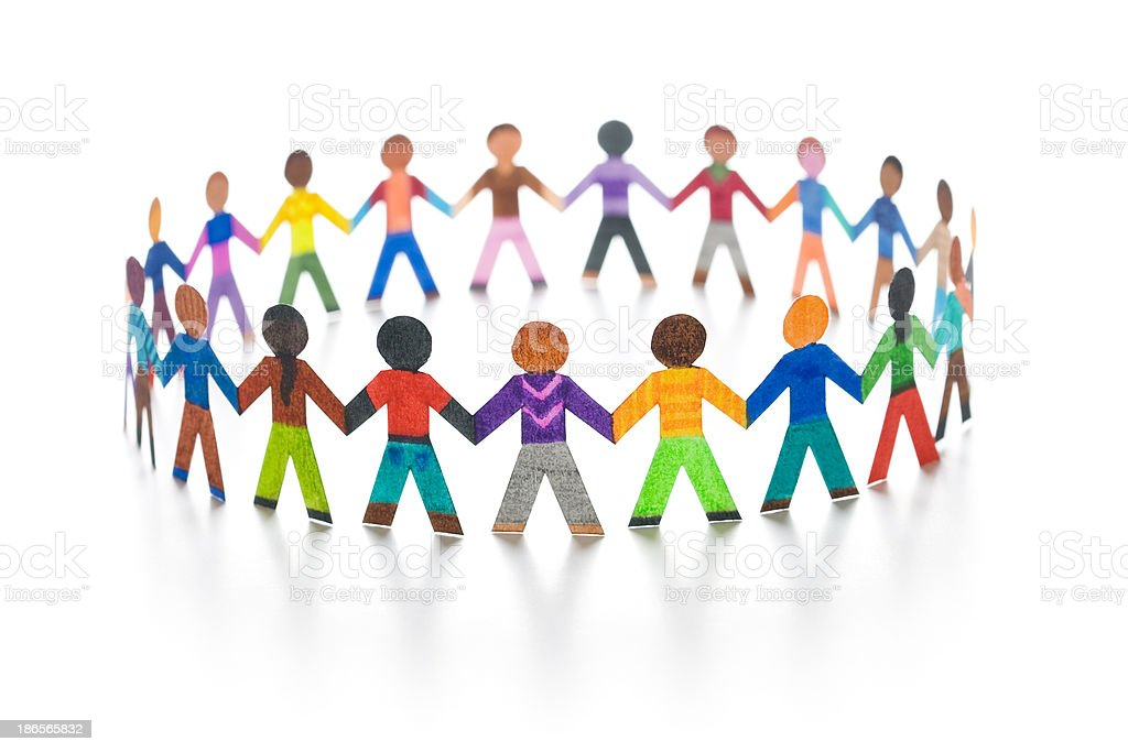 Colorful friends stock photo