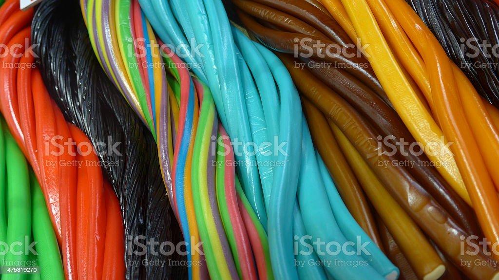 Colorido snakes Jalea de frutas foto de stock libre de derechos
