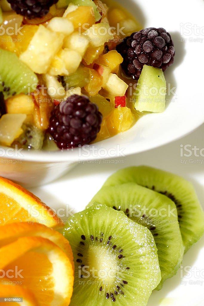 colorful fruit salad dessert royalty-free stock photo