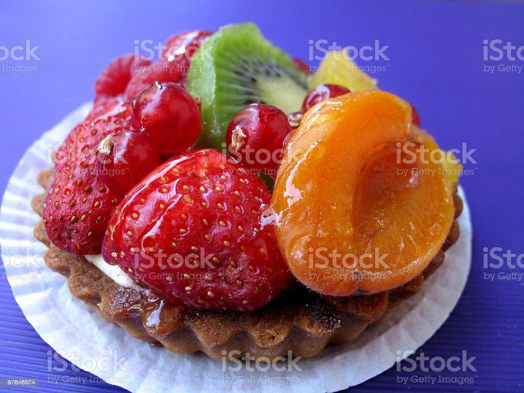 colorful fruit tart stock photo