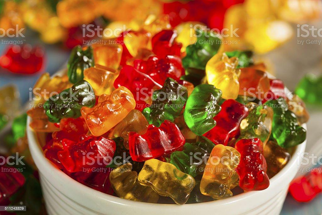 Colorful Fruity Gummy Bears stock photo