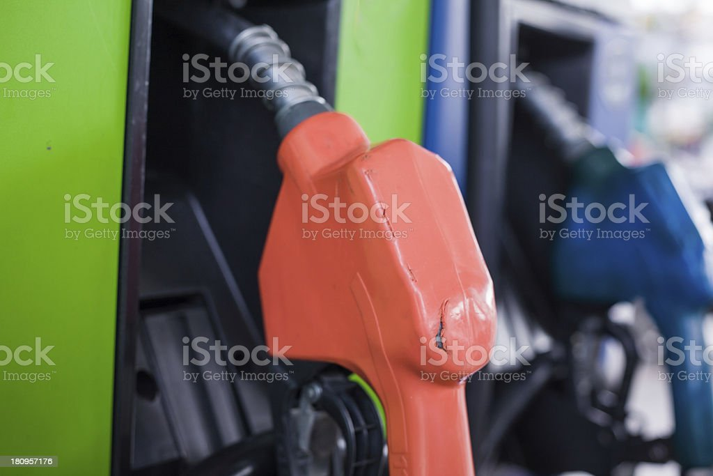 Colorful fuel oil gasoline dispenser royalty-free stock photo