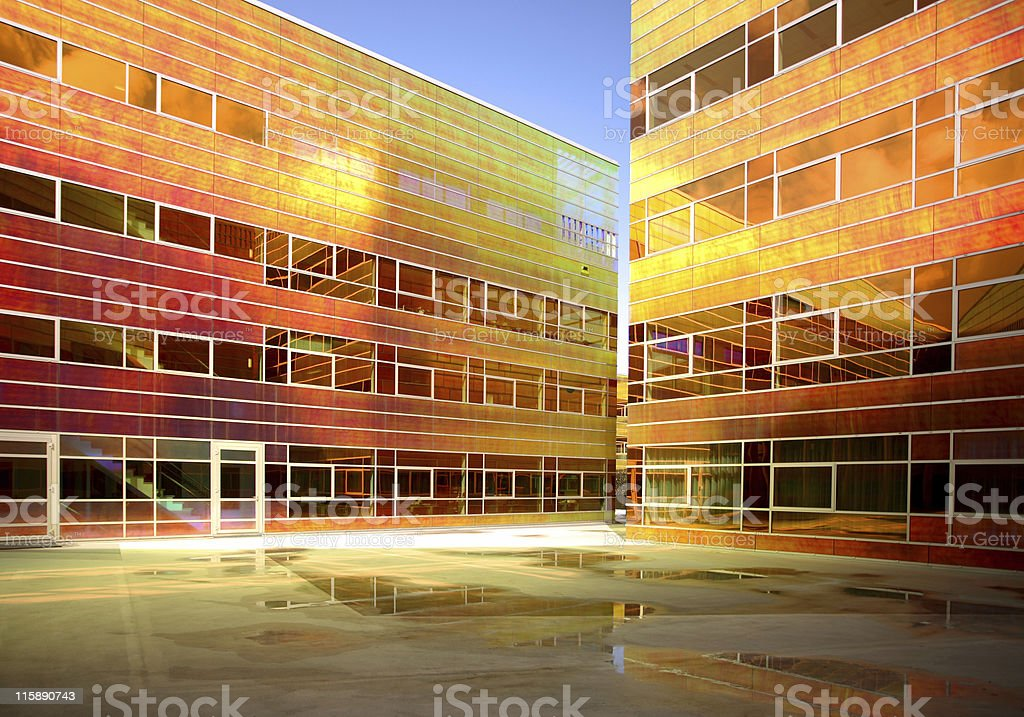Colorful futuristic office building royalty-free stock photo