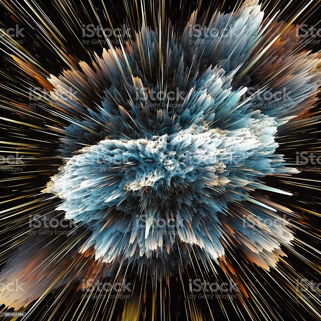 Colorful galaxy clouds and big bang abstract star texture stock photo