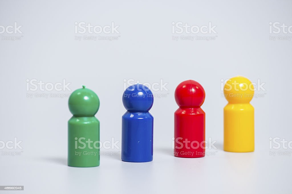 Colorful game pieces royalty-free stock photo