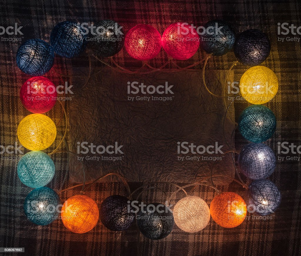 Colorful garland with space for text stock photo