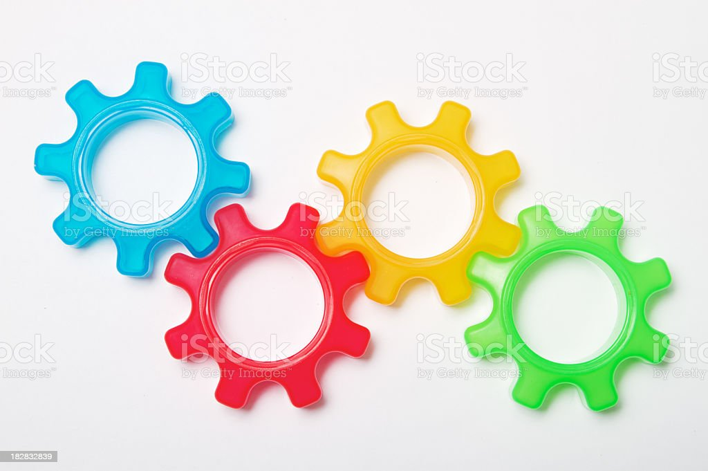 Colorful Gear Connection royalty-free stock photo