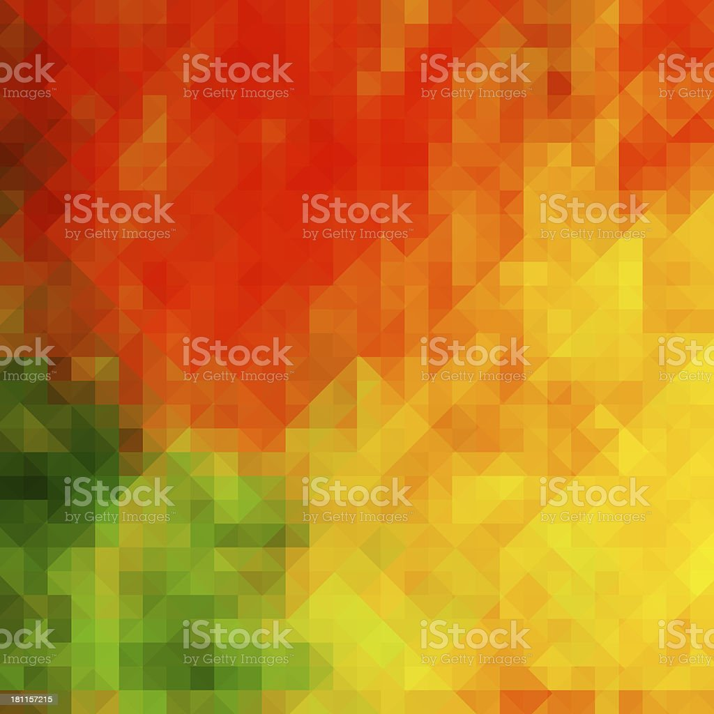 Colorful geometric background card with autumn tones royalty-free stock photo