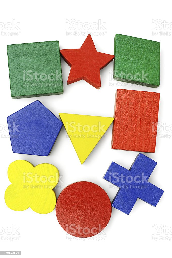 Colorful geometric blocks stock photo