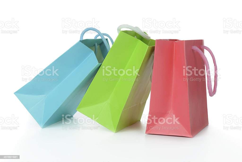 Colorful gift bags stock photo