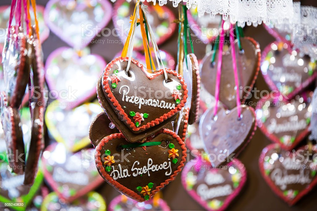 Colorful gingerbreads stock photo