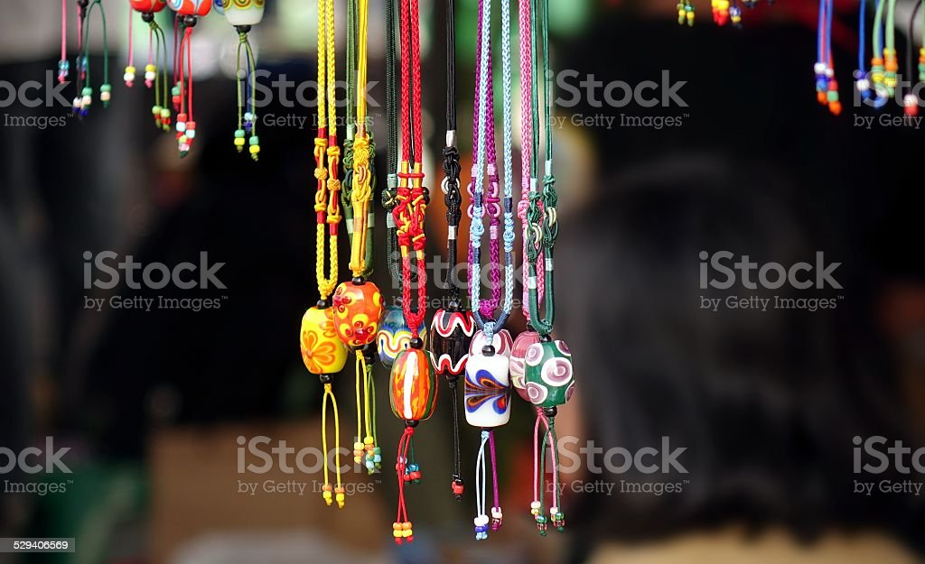Colorful Glass Beads Jewelry stock photo
