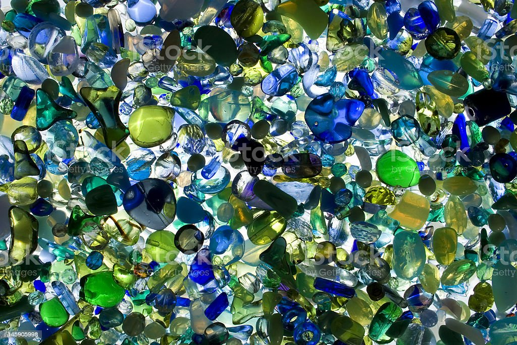 Colorful glass beads royalty-free stock photo