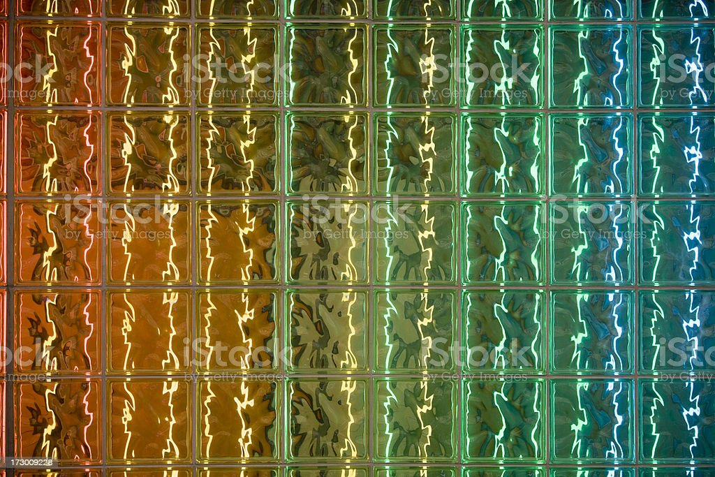 Colorful glass block windows as abstract background, pattern royalty-free stock photo
