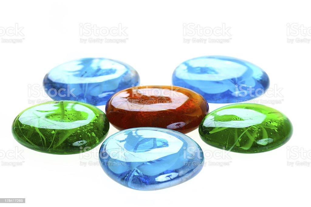 カラフルなガラスの雨滴 ロイヤリティフリーストックフォト