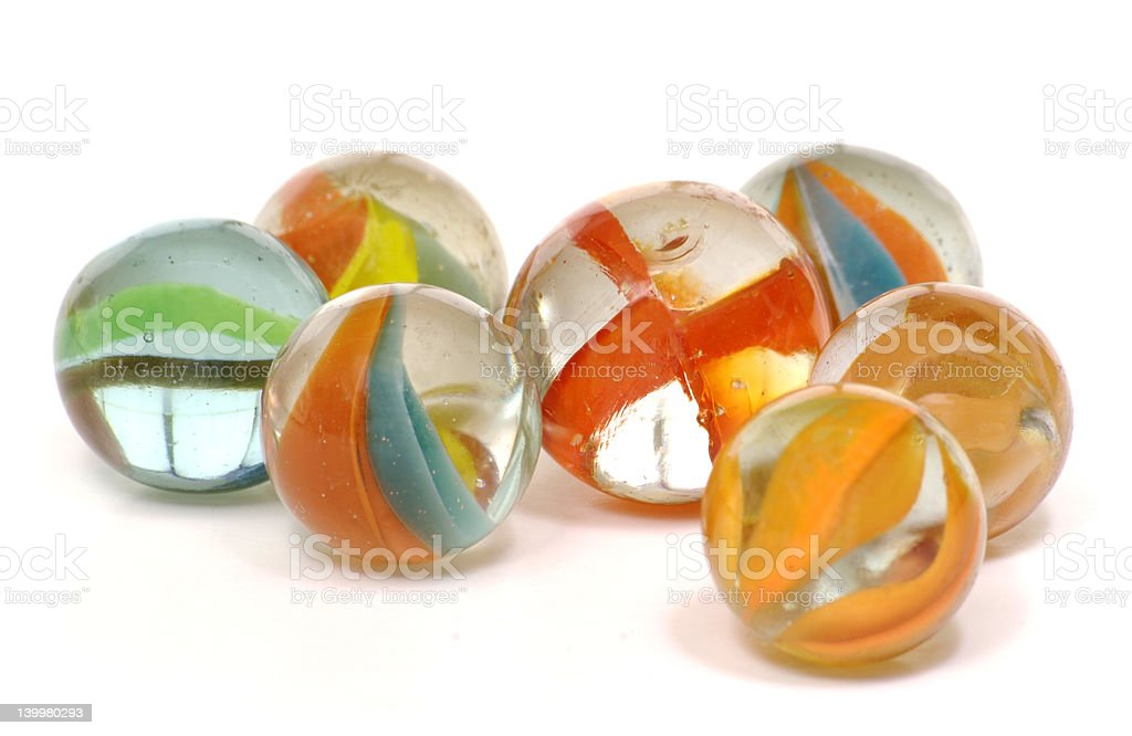 Colorful Glass Marbles stock photo