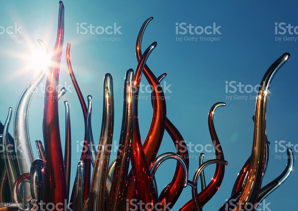 Colorful glasspipes stock photo
