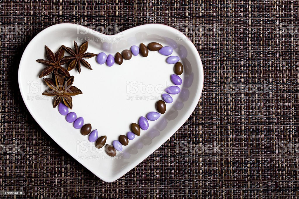 Colorful Glazed Candies Heart royalty-free stock photo