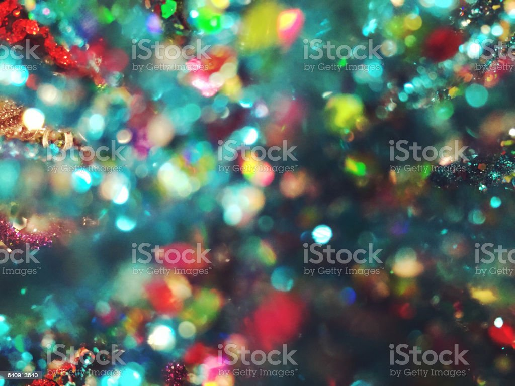 Colorful glitter bokeh background stock photo