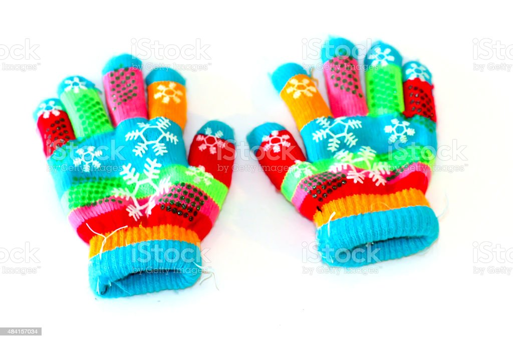 colorful glove frabic stock photo