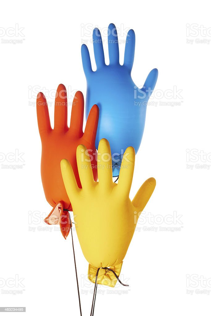 Colorful gloves royalty-free stock photo