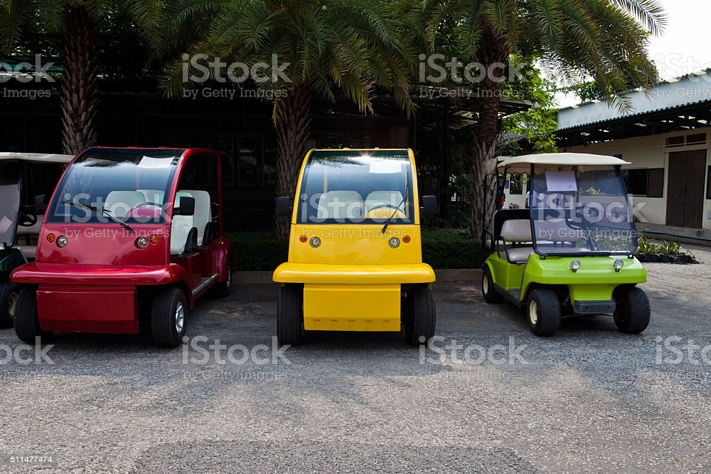 Colorful Golf Cart stock photo