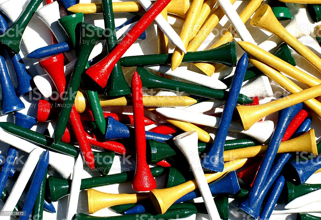 Colorful Golf Tees Background stock photo