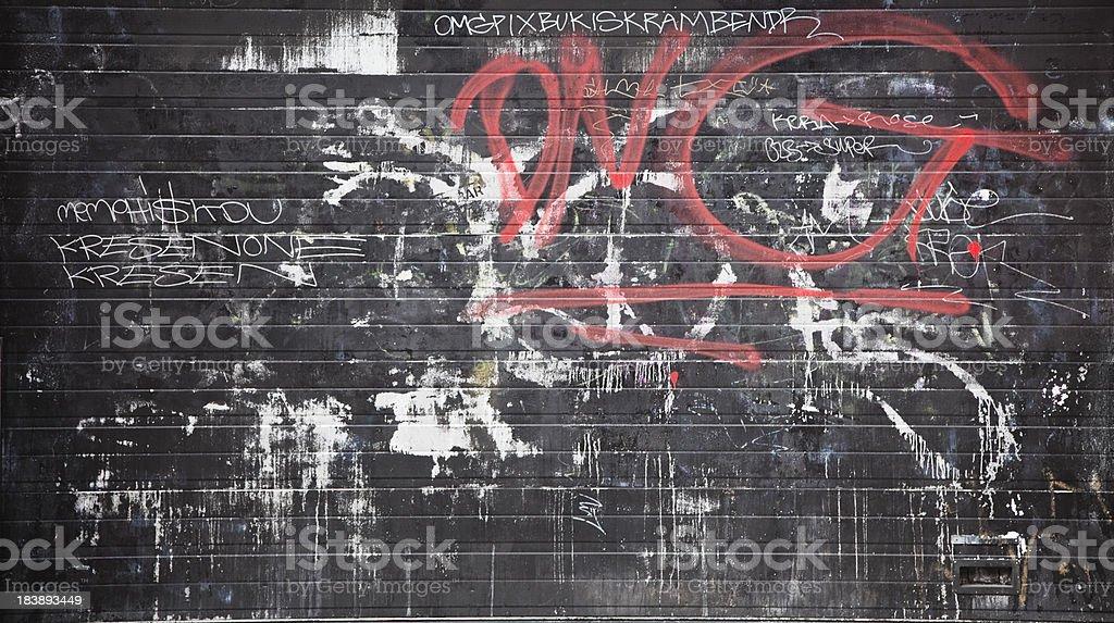 Colorful graffiti on a concrete wall. stock photo