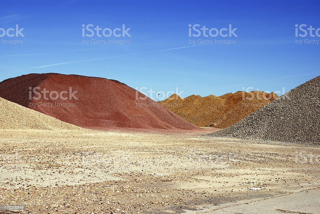 colorful gravel stock photo