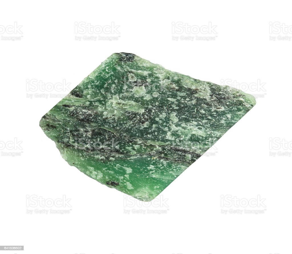 Colorful green nephrite gemstones stock photo
