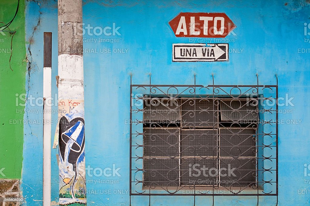 Colorful Guatemalan Building stock photo